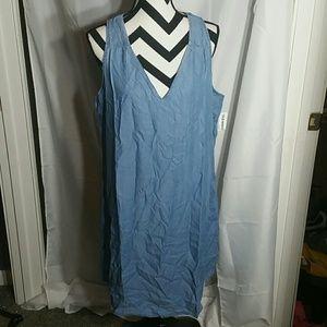 Old Navy light denim shirt dress